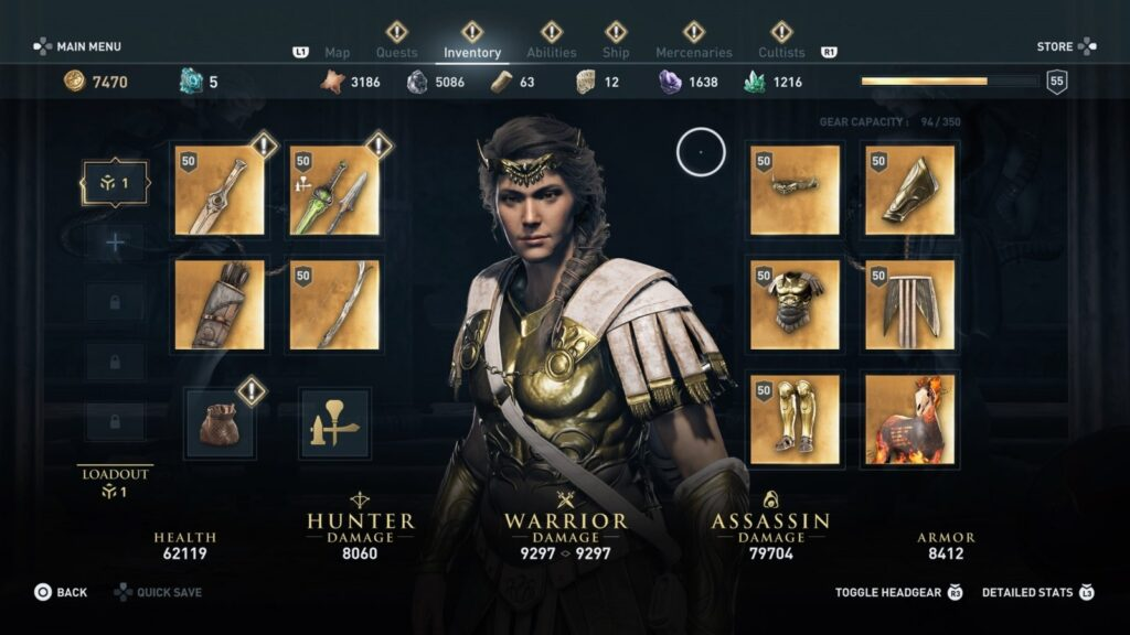 Assassin's Creed Odyssey | Gear Inventory