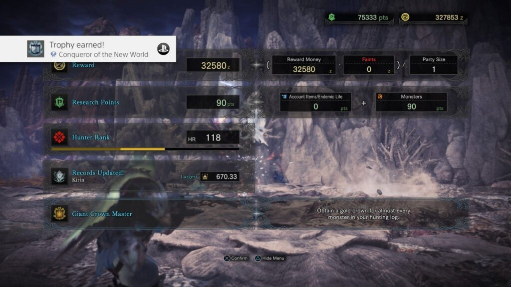 Monster Hunter: World | Platinum Trophy