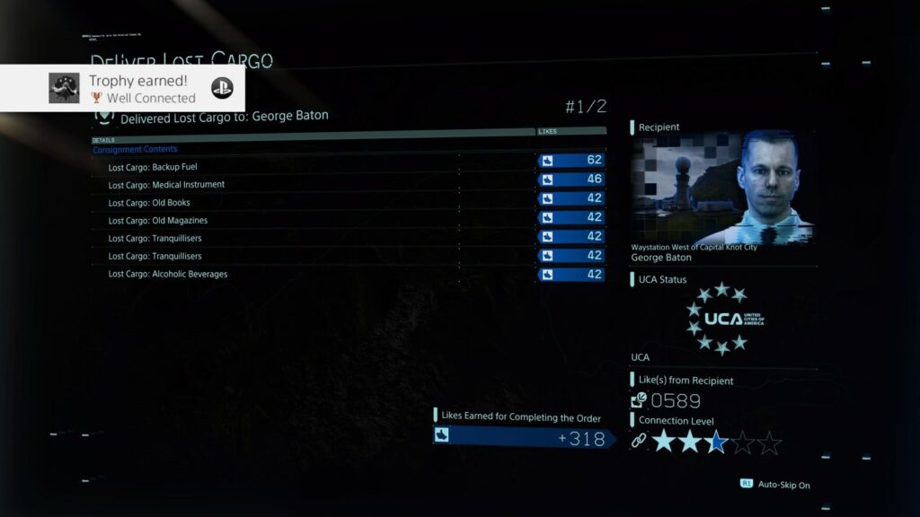 Death Stranding Well Connected trophy screenshot