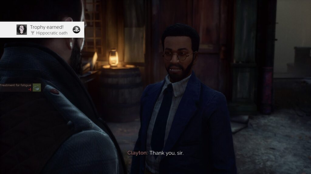 Vampyr Hippocratic oath trophy screenshot