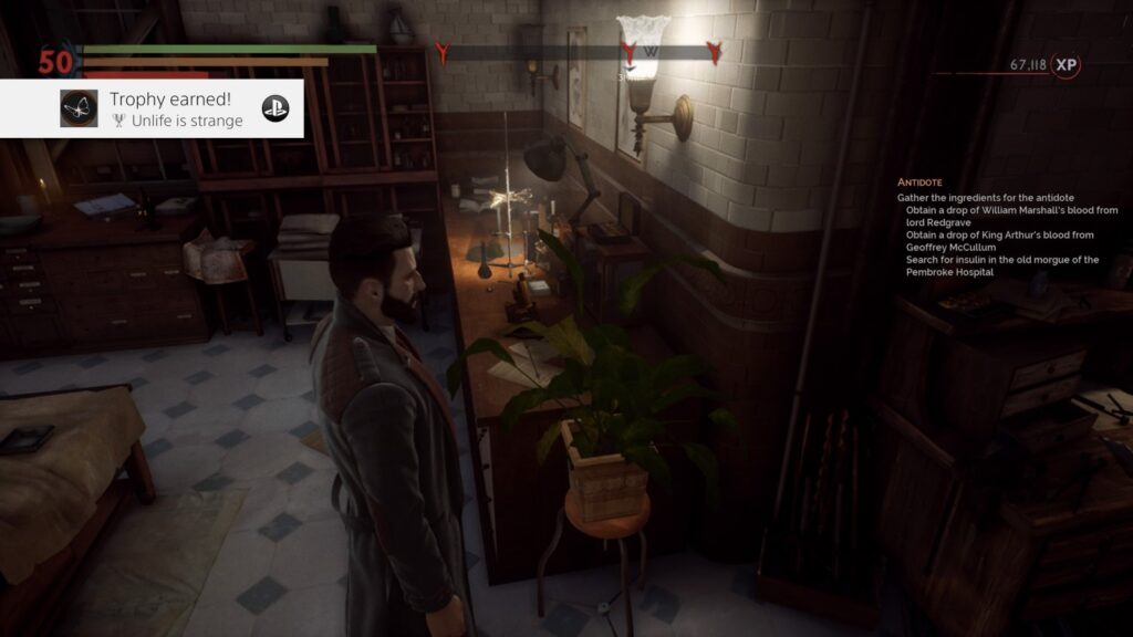 Vampyr Unlife is Strange Trophy Screenshot