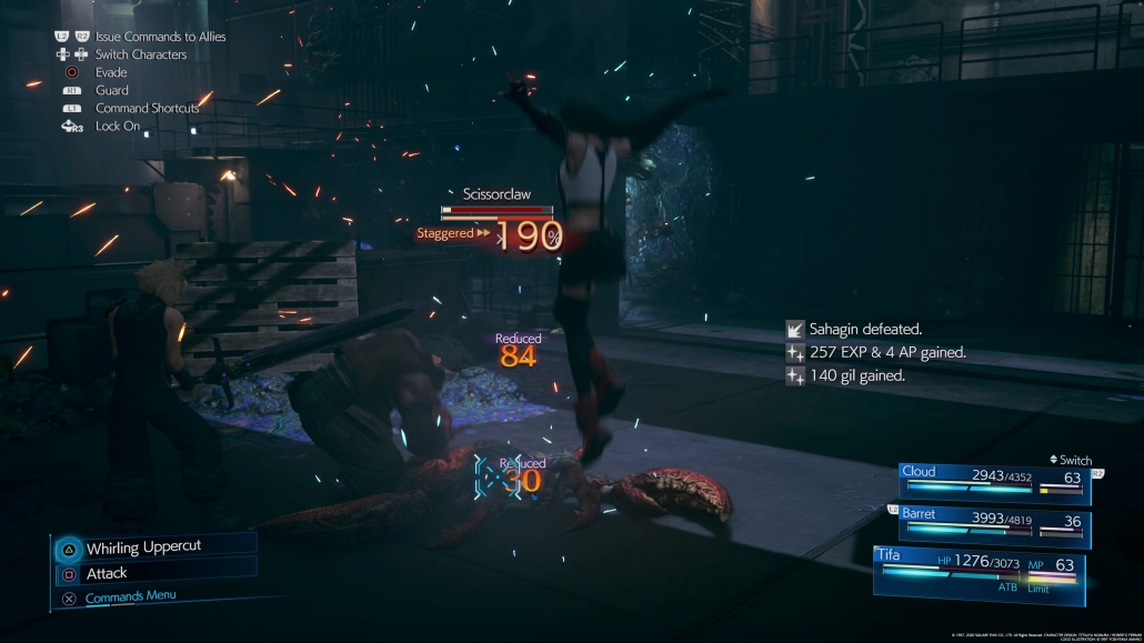 Final Fantasy VII Remake: How to get 200% Stagger 9