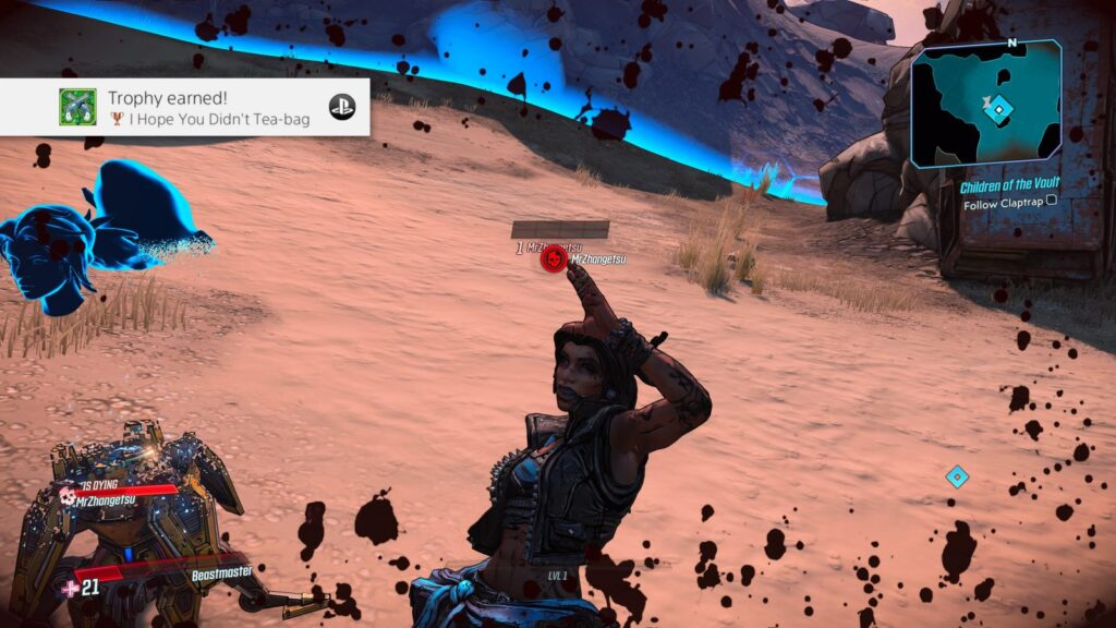 Borderlands 3 I hope You Didn't Tea-bag trophy
