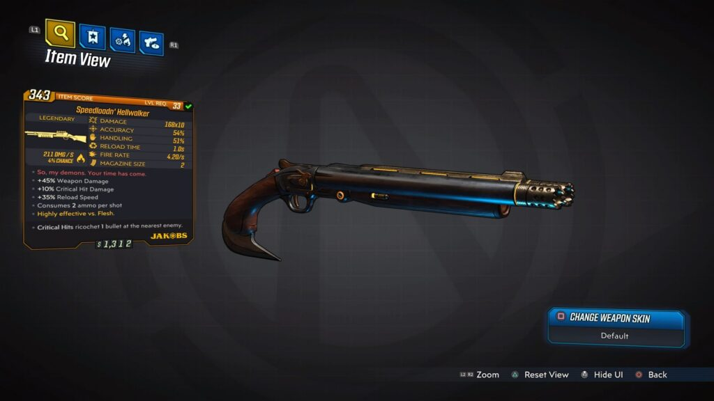 DOOM Shotgun in Borderlands 3