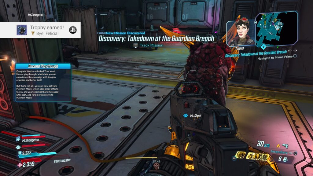 Borderlands 3 Bye, Felicia! trophy