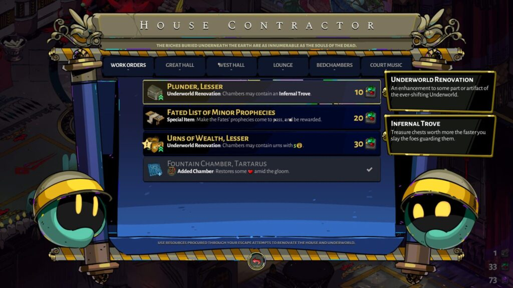 Hades House Contractor Work Orders Tab