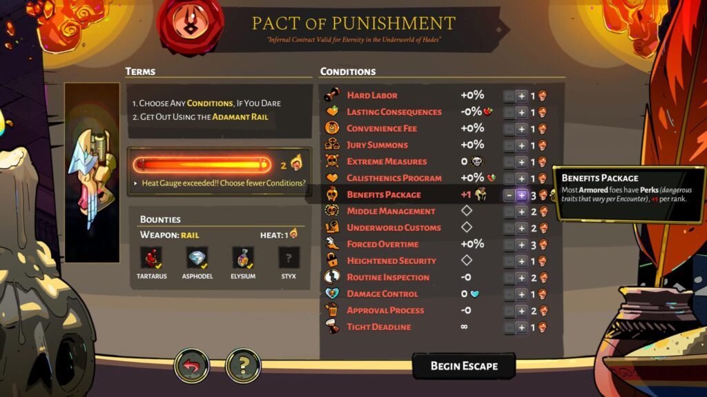 Hades Benefits Package Modifier on the Pact fo Punishment